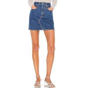 NWT GRLFRND Call It Love Odette Denim Mini Skirt